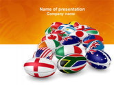 Flags/International: Union of Countries PowerPoint Template #04081