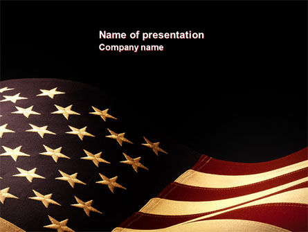 Old Glory USA Flag PowerPoint Template
