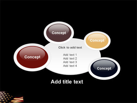 Old Glory USA Flag PowerPoint Template Slide 16