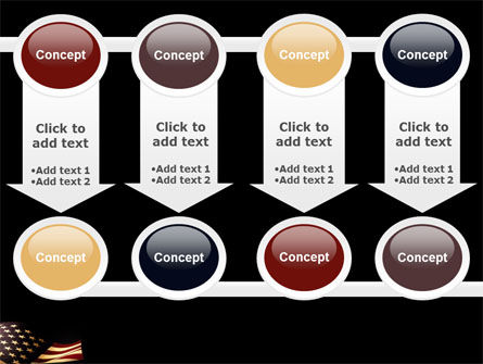 Old Glory USA Flag PowerPoint Template Slide 18