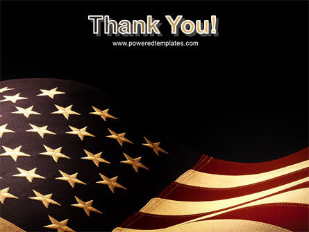 Old Glory USA Flag PowerPoint Template Slide 20