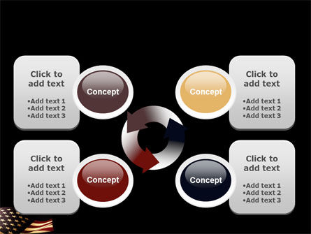 Old Glory USA Flag PowerPoint Template Slide 9