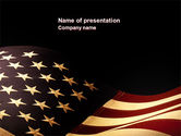 America: Old Glory USA Flag PowerPoint Template #04083