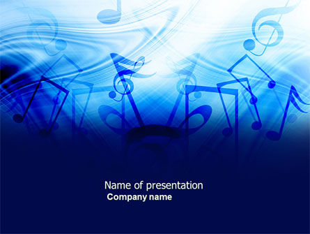 Sounds of Music PowerPoint Template, 04084, Art & Entertainment — PoweredTemplate.com