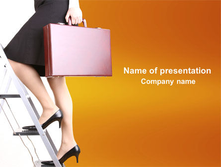 Careers/Industry: Women's Careers In Business PowerPoint Template #04085
