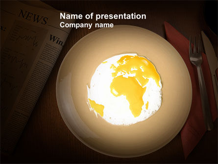 Part of the World Free PowerPoint Template, 04086, Global — PoweredTemplate.com