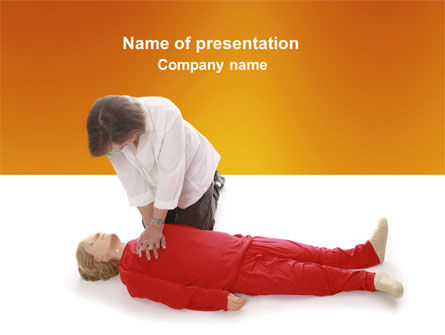 Medical: Cardiac Massage PowerPoint Template #04089