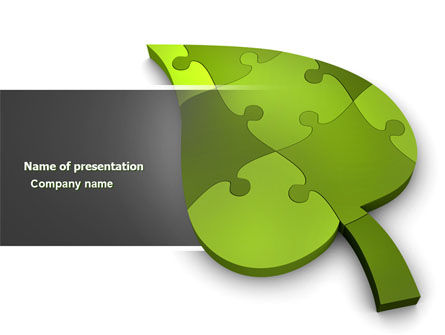 Nature & Environment: Green Ideas PowerPoint Template #04090