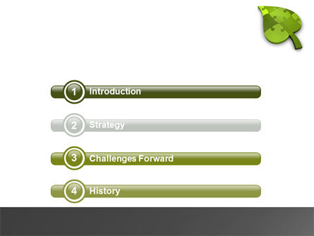 Green Ideas PowerPoint Template Slide 3