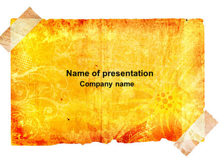 Piece Of Butter Paper PowerPoint Template, 04093, Abstract/Textures — PoweredTemplate.com