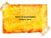 Abstract/Textures: Piece Of Butter Paper PowerPoint Template #04093