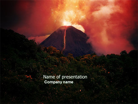 Nature & Environment: Eruption PowerPoint Template #04094