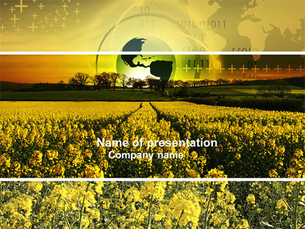 Modern Agriculture PowerPoint Template, 04097, Nature & Environment — PoweredTemplate.com
