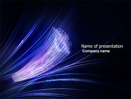 Telecommunication: Fiber Optic Connection PowerPoint Template #04098