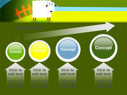 Sheep In Primitive Picture PowerPoint Template Slide 13