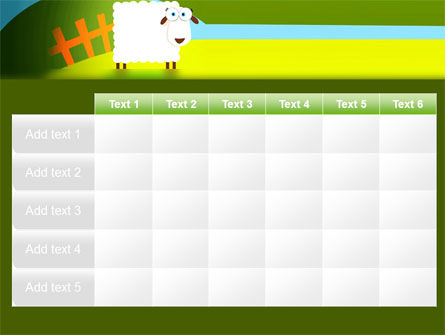 Sheep In Primitive Picture PowerPoint Template Slide 15