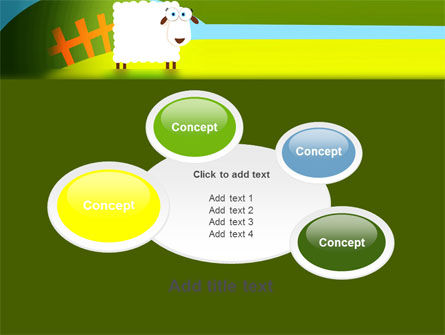 Sheep In Primitive Picture PowerPoint Template Slide 16