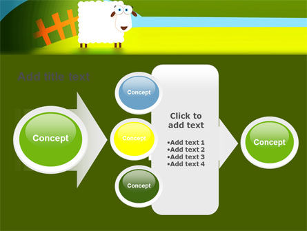 Sheep In Primitive Picture PowerPoint Template Slide 17