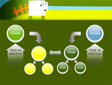 Sheep In Primitive Picture PowerPoint Template Slide 19