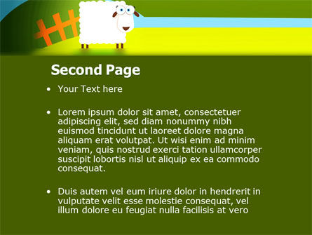 Sheep In Primitive Picture PowerPoint Template Slide 2
