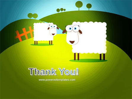 Sheep In Primitive Picture PowerPoint Template Slide 20