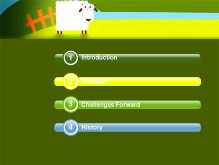 Sheep In Primitive Picture PowerPoint Template Slide 3