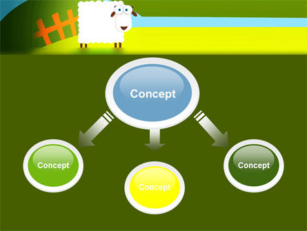 Sheep In Primitive Picture PowerPoint Template Slide 4