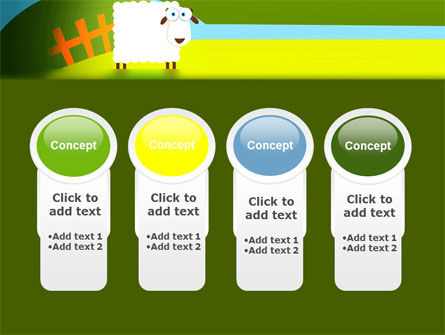 Sheep In Primitive Picture PowerPoint Template Slide 5