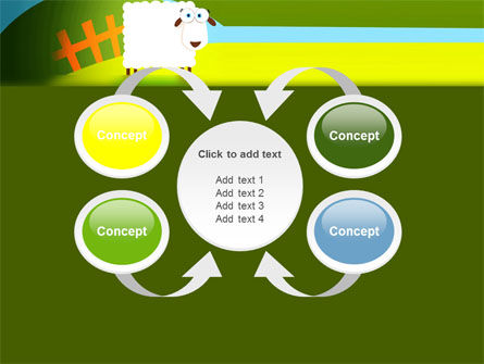 Sheep In Primitive Picture PowerPoint Template Slide 6