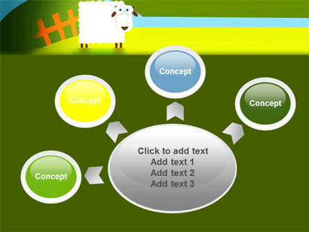 Sheep In Primitive Picture PowerPoint Template Slide 7