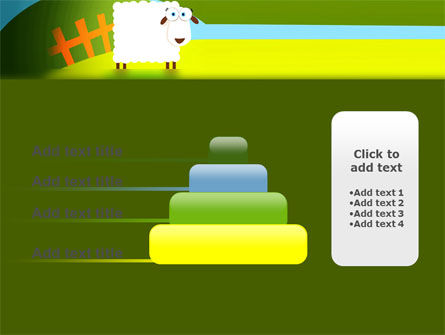 Sheep In Primitive Picture PowerPoint Template Slide 8
