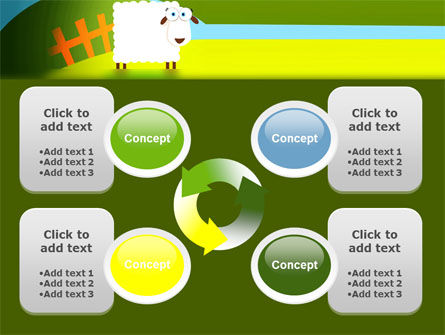 Sheep In Primitive Picture PowerPoint Template Slide 9