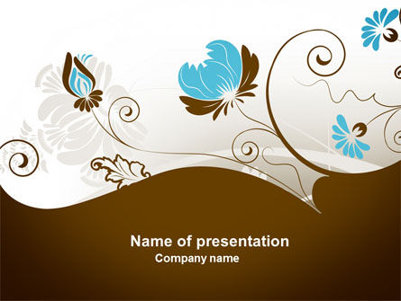 Abstract/Textures: Floral Motif PowerPoint Template #04100