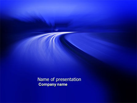 Blue Twilight Movement PowerPoint Template