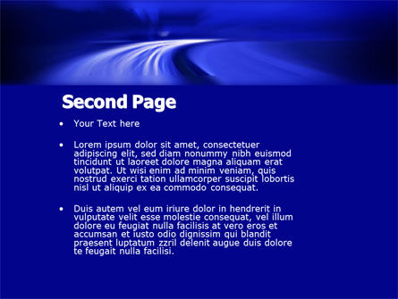 Blue Twilight Movement PowerPoint Template Slide 2