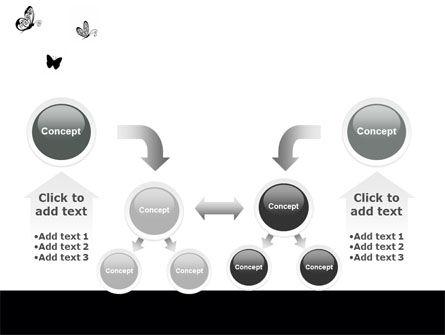 Butterfly Motif PowerPoint Template Slide 19