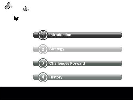Butterfly Motif PowerPoint Template Slide 3