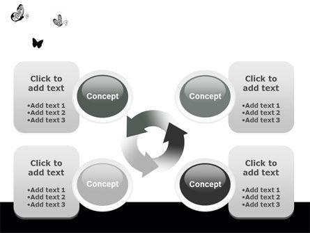 Butterfly Motif PowerPoint Template Slide 9