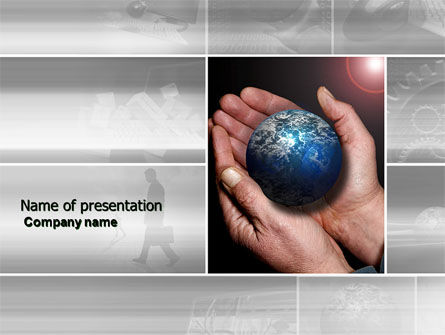 Global Business World PowerPoint Template, 04105, Global — PoweredTemplate.com