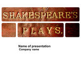 Education & Training: Shakespeare PowerPoint Template #04106