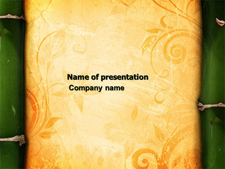 Bamboo Theme PowerPoint Template, 04107, Abstract/Textures — PoweredTemplate.com