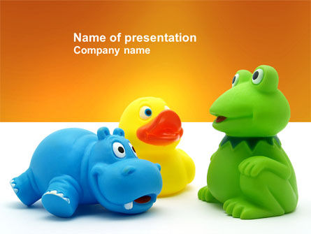 Stuffed Toys PowerPoint Template, 04109, Education & Training — PoweredTemplate.com