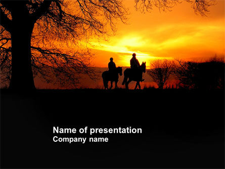 Nature & Environment: Riders PowerPoint Template #04110