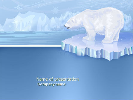 Sea Bear PowerPoint Template, 04111, Animals and Pets — PoweredTemplate.com