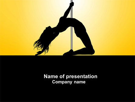 Art & Entertainment: Striptease PowerPoint Template #04112