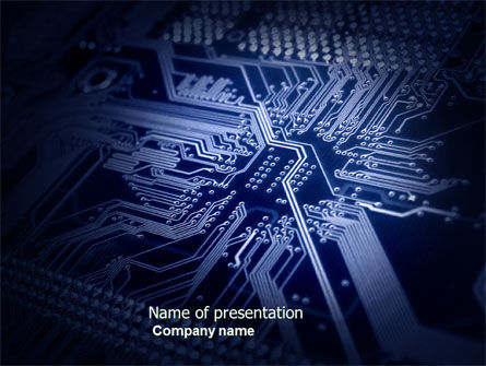 Computer Card Board PowerPoint Template, 04113, Technology and Science — PoweredTemplate.com