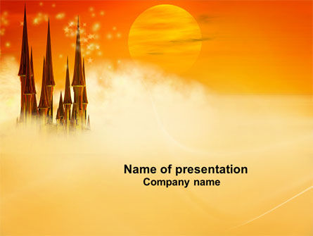 fantasy world powerpoint template, backgrounds | 04114, Modern powerpoint