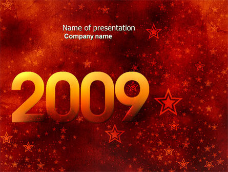 2009 celeb yr PowerPoint Template, 04115, Holiday/Special Occasion — PoweredTemplate.com