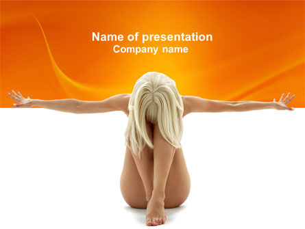 People: Nude Beauty PowerPoint Template #04119