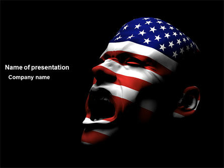 America: Voice of America PowerPoint Template #04120